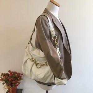 Coach Hamptons Pleated Leather Hobo Bag